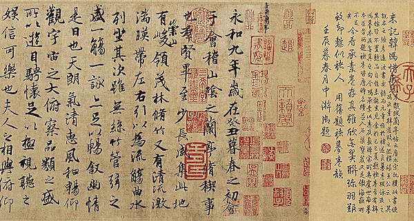 晋 王羲之 墨迹合集 纸本28.3×866